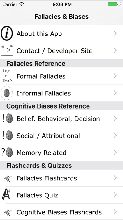 Fallacies and Biases screenshot-0