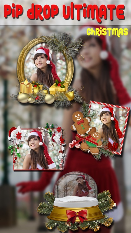 PIP Drop Ultimate Camera - Christmas Photo Effect