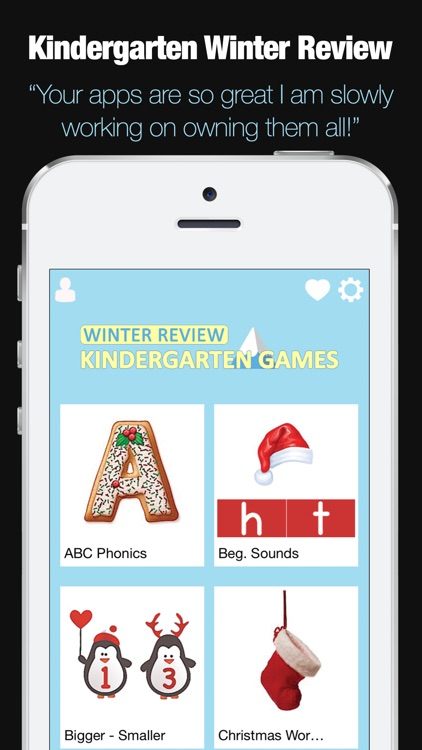 Kindergarten Learning Games - Winter Review App