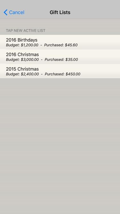 Build Your Gift List screenshot-3