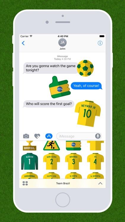 Football Emojis — Team Brazil