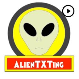 AlienTXTing - Animated UFO Alien Fun Stickers
