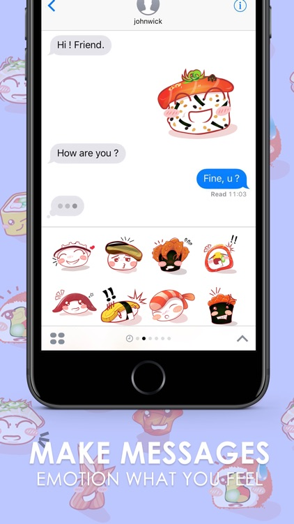 Suchi 555 Stickers & Emoji Keyboard By ChatStick