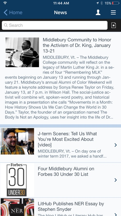 Middlebury College Mobile screenshot-4