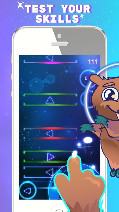Space Beaver: Fast reaction game with gesture screenshot one