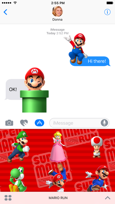 Super Mario Run Stickers