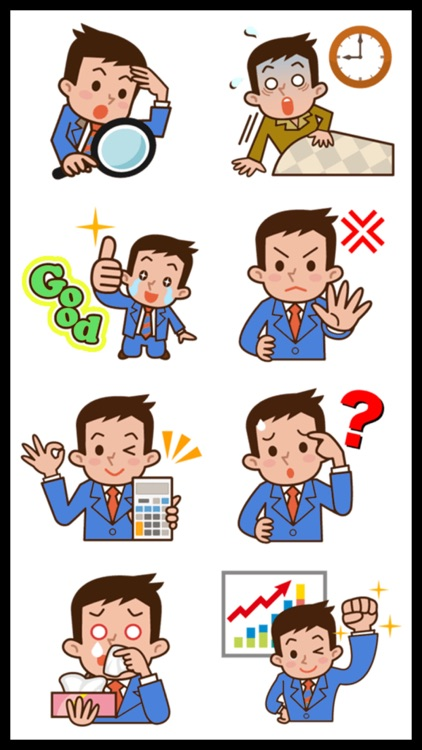 Office Man Stickers