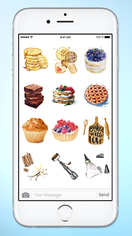 Watercolor Baking Cooking and Kitchen Sticker Pack screenshot-3