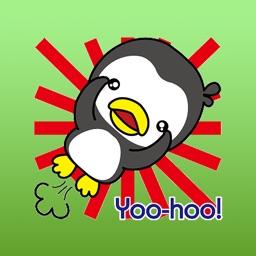 Ginni Little Baby Penguin English Sticker