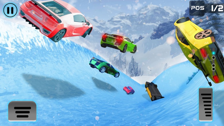 Frozen Water Slide Car driving simulator pro