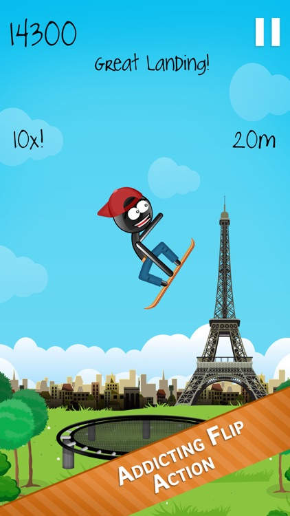 Stickman Trampoline PRO - Extreme Flip Action! screenshot-1