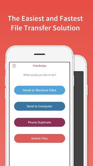 FotoSwipe: ファイル転送、写真、ビデオ共有のスクリーンショット1