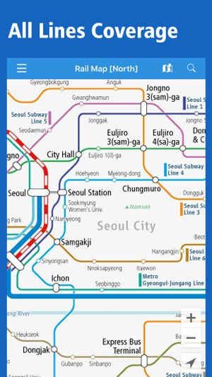 Korea Rail Map Seoul Busan All South Korea On The App Store