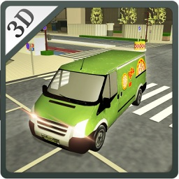 Pizza Delivery Van- Food Truck Driver Game