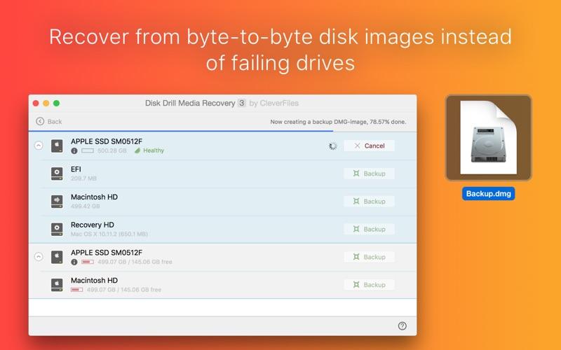 Disk Drill Media Recovery Screenshots