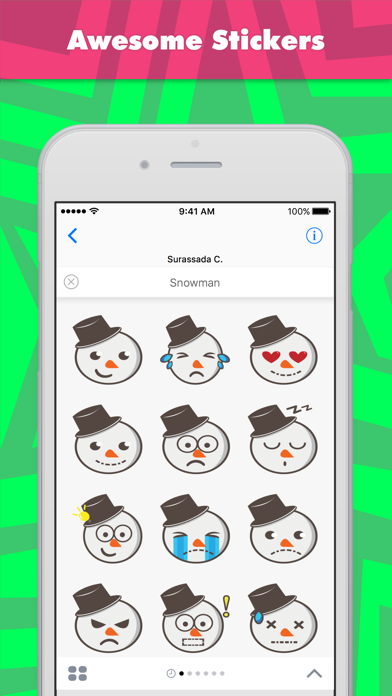 Snowman stickers by Snowicy