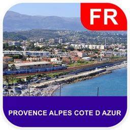 Provence Alpes Cote D Azur Map - PLACE STARS