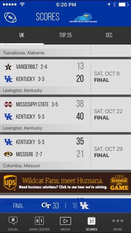 Kentucky Wildcats Gameday screenshot-3