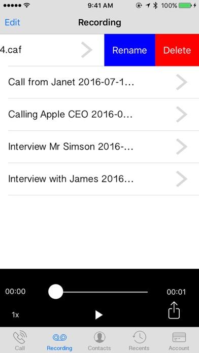 Automatic Call Recorder and International Calls Screenshot 3