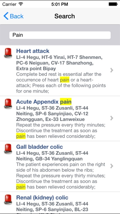 Acupressure review screenshots