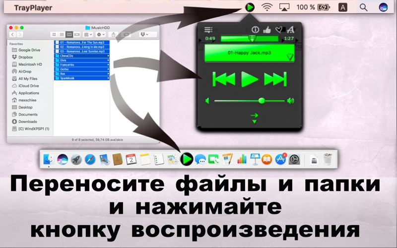 Tray Player / Простой МП3 Плеер скриншот программы 3