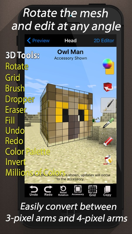 Skin Creator 3D for Minecraft - Online Game Hack and Cheat