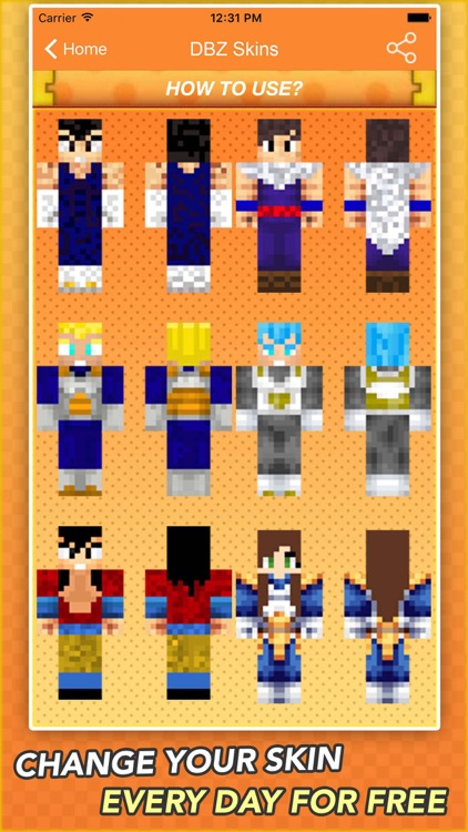 Super Skins For Dragon Ball Z Fans For Minecraft