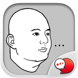 Jookgru Crazyman Stickers & Keyboard By ChatStick