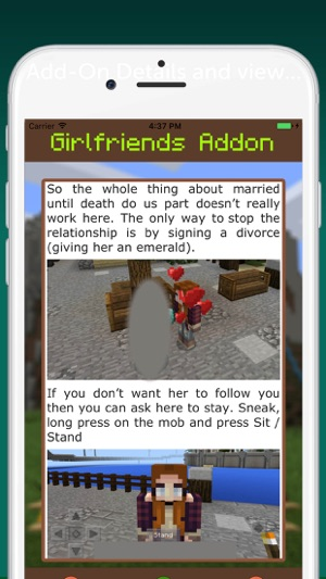Girlfriends AddOn for Minecraft PE on the App Store