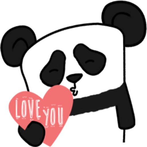 The Lazy Panda stickers by Hazal for iMessage