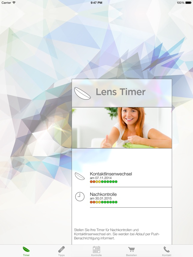 Lens Timer Screenshot