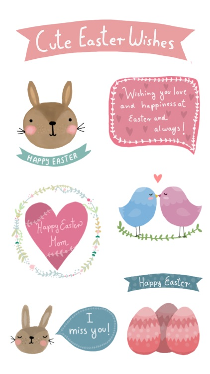 Cute Easter Wishes screenshot-0