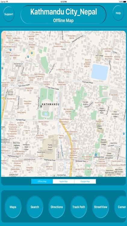 Kathmandu Nepal Offline City Maps Navigation screenshot-0