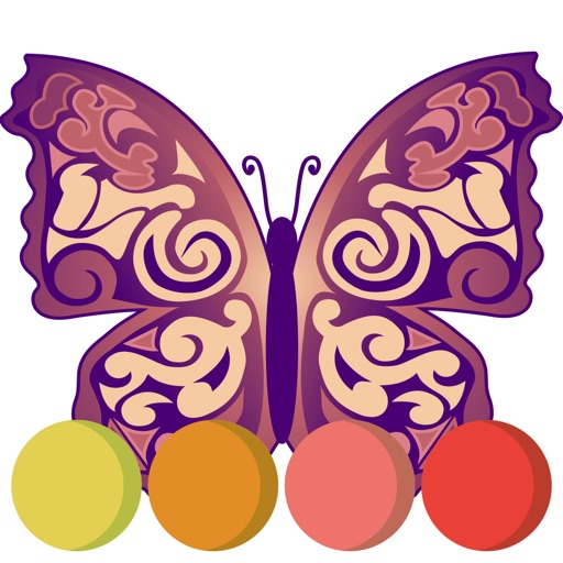 Colorful butterfly coloring book