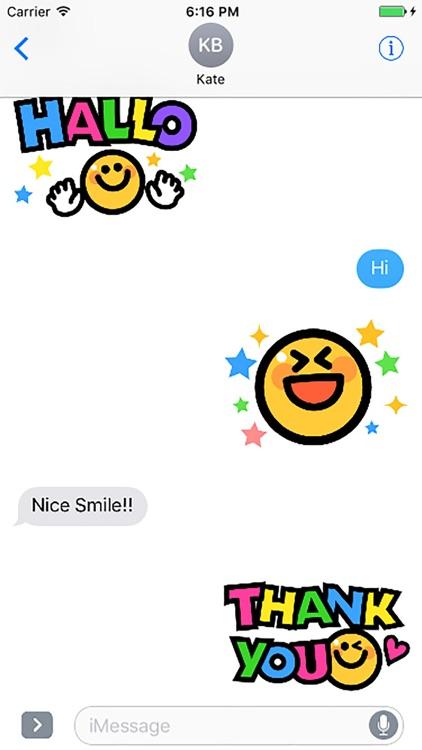 Smiley face Sticker 1