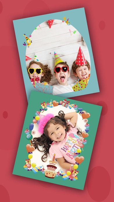 Birthday party photo frames for kids – Pro screenshot two