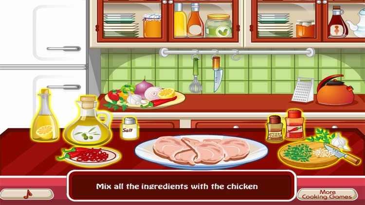 Cooking the First Chicken - girl games for kids screenshot-4