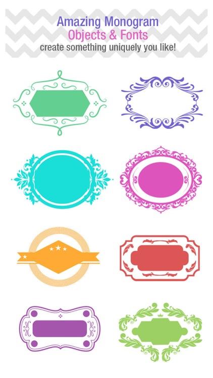 Customize Monogram & Background Maker screenshot-3
