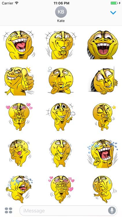Mr.Powwaw Emoticon Stickers 5