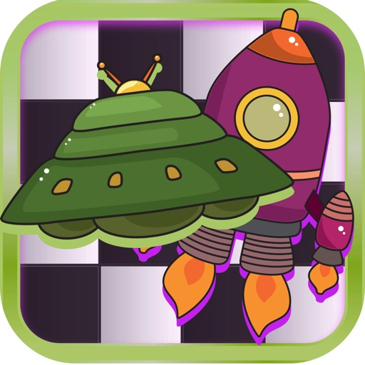 Checker Board Spaceship Puzzle Style Pro app logo
