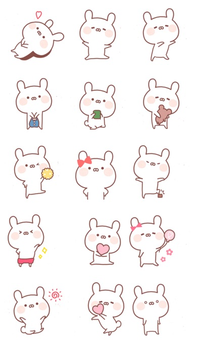 The Sweetest White Hare - Fresh Animal Stickers!!! app image
