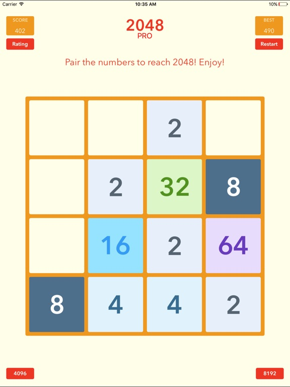 Screenshot #1 for 2048 Tile Pairing Challenge - Professional Version