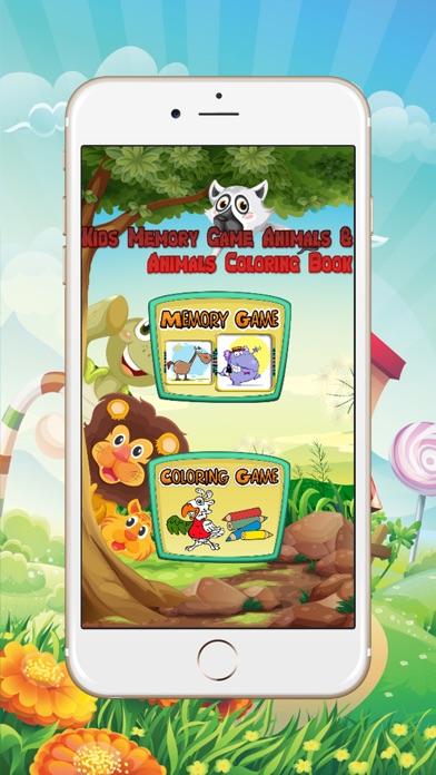 点击获取Kids Memory Game Animals & Animal Color Book Kids