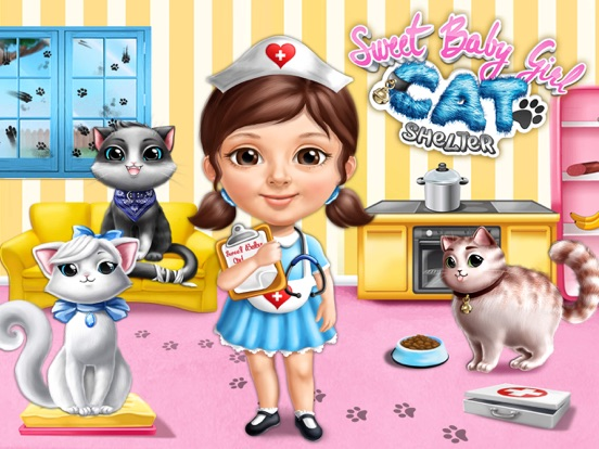 Sweet Baby Girl Cat Shelter – No Ads screenshot 6