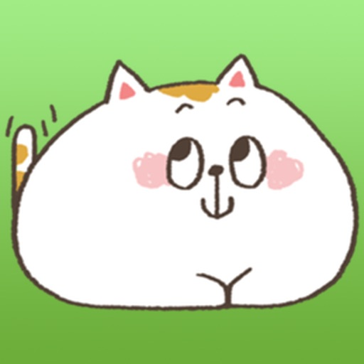 Chubby White Cat Emoji Stickers