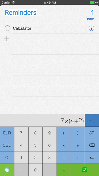 My Calculator (including currency conversion) screenshot-4