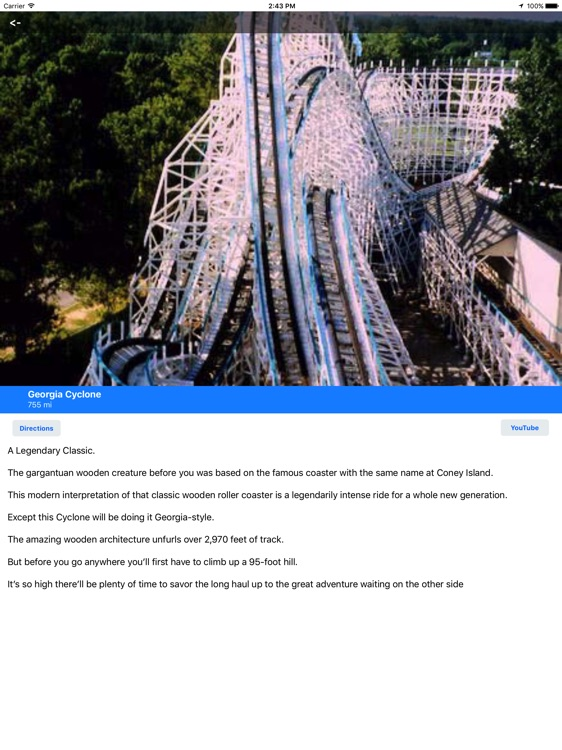 MotorCo Guide for Six Flags Over Georgia for iPad