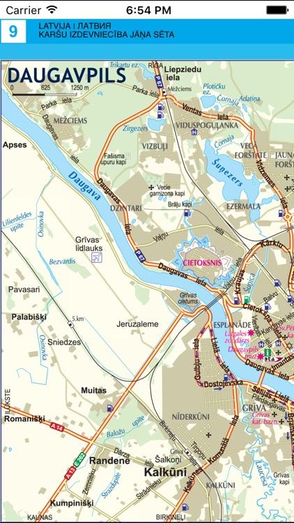 Latvia. Road map screenshot-4