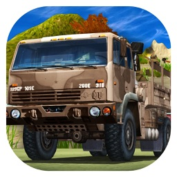 Truck Transport Games: Heavy Off road Army Truck