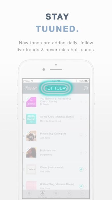 TUUNES™ Ringtones, Music & Text Tones for iPhone app image